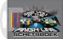 SET Cars Schetsboek Met Sjabloon / 3x7,95