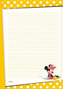 SET Minnie Mouse 13 Postpapier Setje / 6x4,99