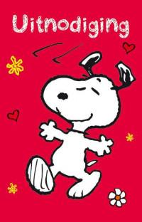 SET Snoopy Uitnodiging Pk 785 / 6x3,95