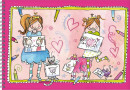 SET Lisa & Lilly schetsboek / 5x4,95