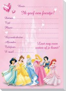 set 6 uitnodigingsblok Disney prinses