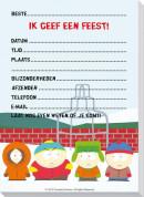 SET South Park Uitnod.Bl. Pi 73 / 6x4,95