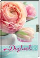 Set dagboek bloemen met slot/ 3x8,95