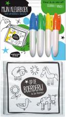 Dieren uitwasbare kleurboekjes SET / 4x6,95