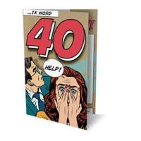 SET UITNODIGING 40 HELP! PK902 / 6 X 3,95