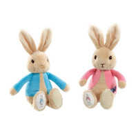 Peter Rabbit knuffel 19cm blauw/roze (12x in display)