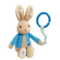 Peter Rabbit buggyspeeltje blauw 19cm (12x in display)