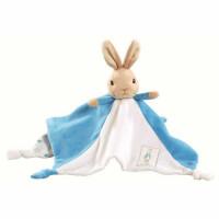 Peter Rabbit knuffeldoekje/tutje blauw 30cm (6x in verpakking)