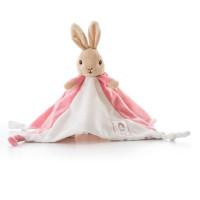 Peter Rabbit knuffeldoekje/tutje roze 30cm (6x in verpakking)