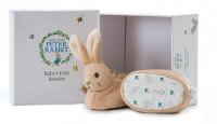 Peter Rabbit babyschoentjes met rammelaar (6x in doos)