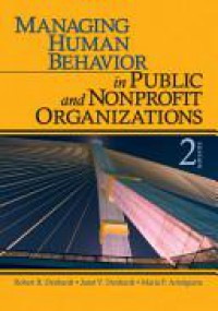 Managing human behavior in public and nonprofit organization