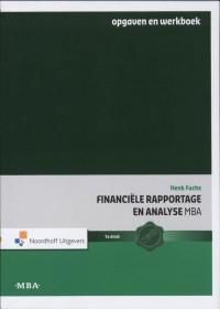 Financiële Rapportage en Analyse MBA Opgaven en werkboek