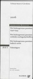 Schuurman & Jordens Wet Buitengewoon Pensioen 1940-1945