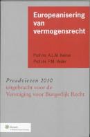 Preadviezen uitgebracht voor de Vereniging voor Burgerlijk Recht Europeanisering van vermogensrecht