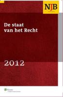 De Staat van het Recht 2012-I