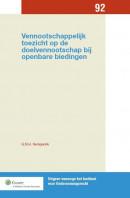Vennootschappelijk toezicht op de doelvennootschap bij openbare biedingen