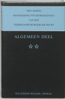 Mr. C. Asser's handleiding tot de beoefening van het Nederlands burgerlijk recht Algemeen deel