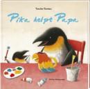 Pika helpt papa. De creatieve kleine pinguïn helpt zijn vader