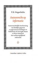 Amsterdam Academic Archive Auteursrecht op informatie