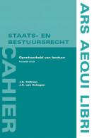 Ars Aequi cahiers Staats- en bestuursrecht Openbaarheid van bestuur