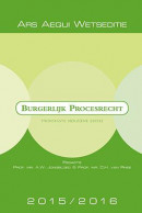 Ars Aequi Wetseditie Burgerlijk procesrecht 2015-2016