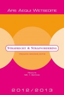 Ars Aequi Wetsedities Strafrecht & strafvordering 2012/2013