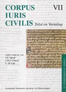 VII Corpus Iuris Civilis VII; Codex Justinianus 1 - 3 Corpus Iuris Civilis