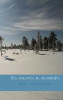 Een bromtol in de sneeuw