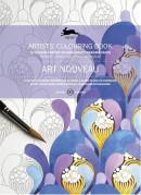 ART NOUVEAU - ARTISTS' COLOURING BOOK