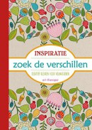Inspiratie, zoek de verschillen kleurboek voor volwassenen