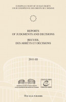 Reports of judgments and decisions / recueil des arrets et decisions 2011-III