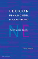 Lexicon Financieel Management E-N en N-E (set van 2 boeken)